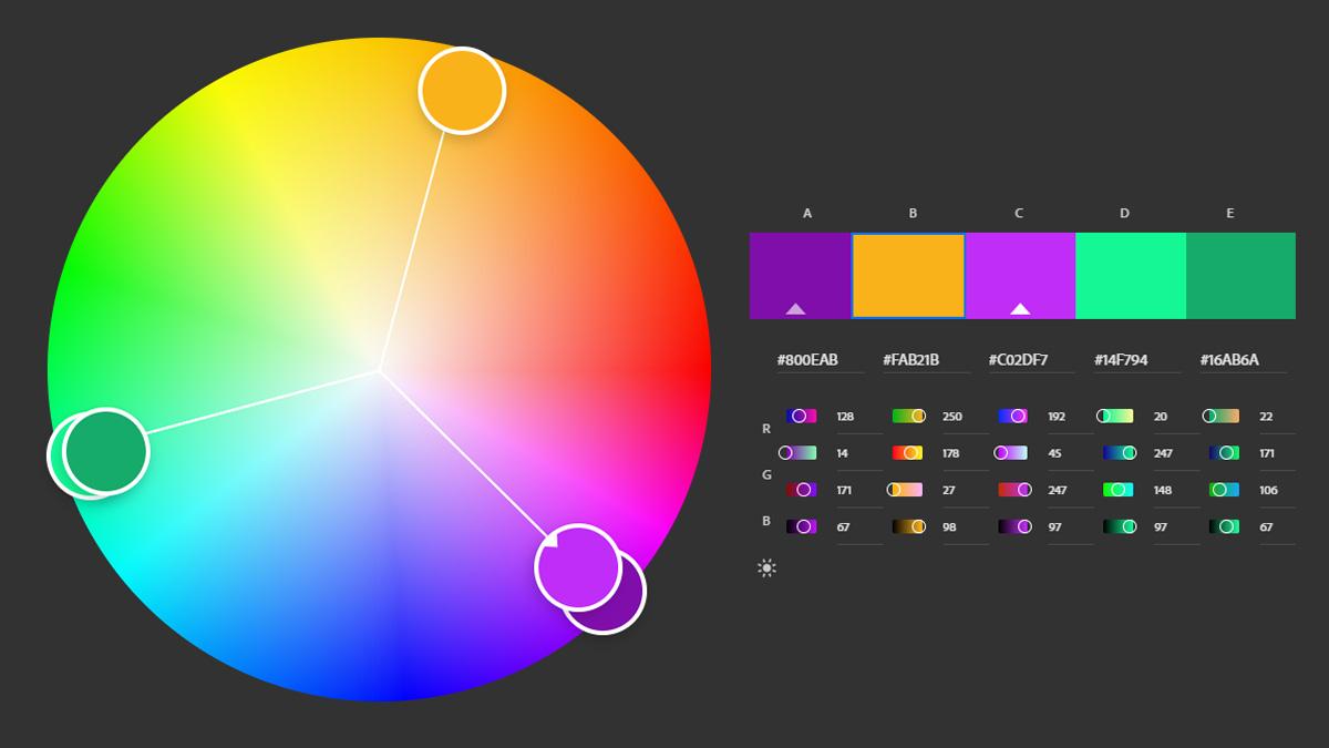 Como criar paletas de cores usando o Adobe Color?